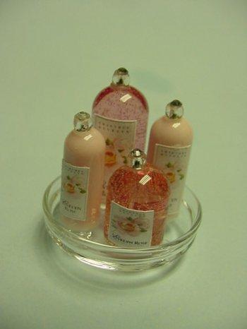 Evelyn Rose Bottles On Glass Tray 24 75 Kent S Mini