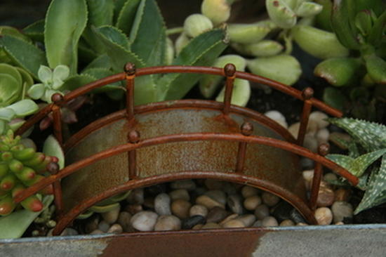 Charming Rusty Fairy Garden Bridge