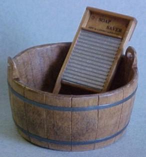 Washboard And Tub : wooden wash tub and board kent 39 s mini treasures artisan dollhouse miniatures ~ Russianpoet.info Haus und Dekorationen
